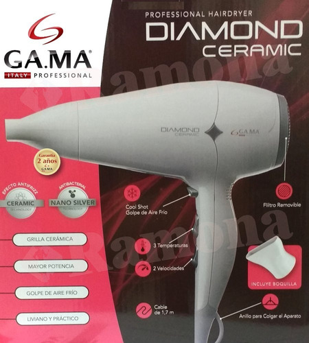 secador de pelo gama diamond ceramic 2300w profesional