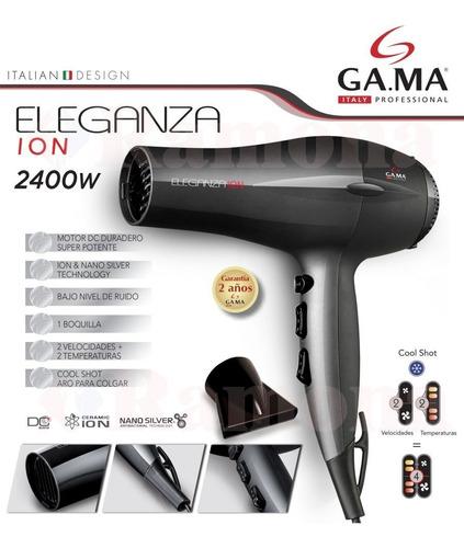secador de pelo gama eleganza ion 2400w calor y frio