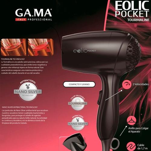 secador de pelo gama eolic pocket 1200w pequeño y liviano
