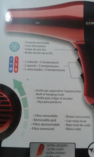 secador de pelo gama italy maestrale ion