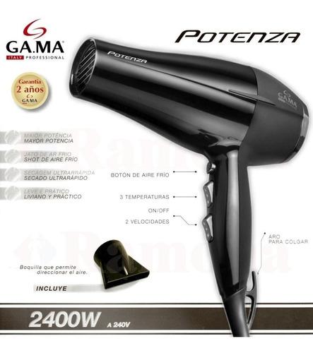 secador de pelo gama potenza 2400w calor y frio