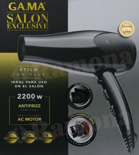 secador de pelo gama stilo ion plus salon profesional