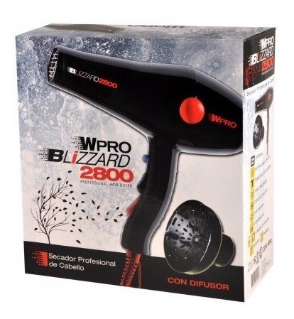 secador de pelo profesional blizzard 2800 con difusor wpro