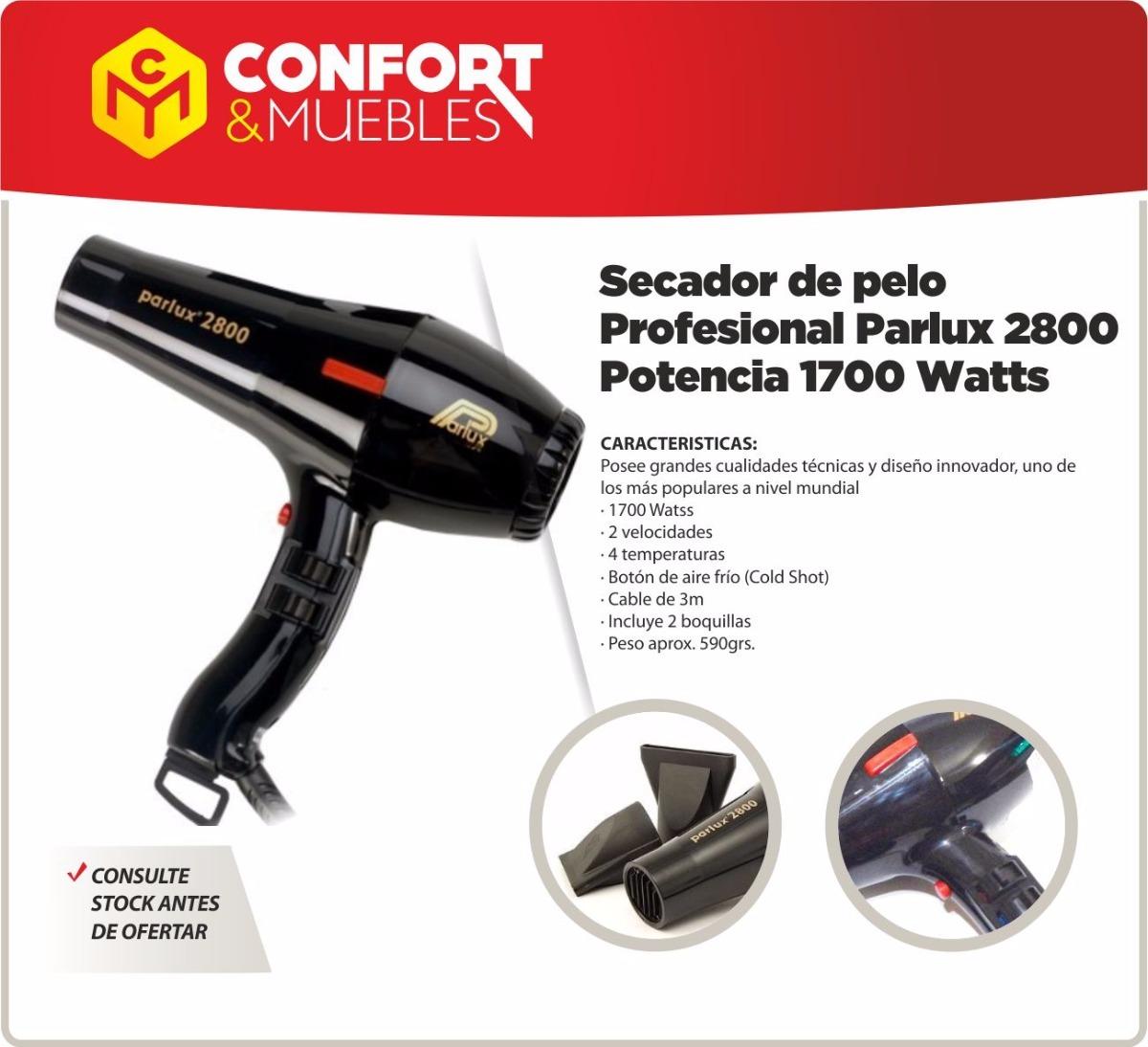 secador de pelo profesional parlux 2800 potencia 1700 watts. Cargando zoom. 7833ff2d41b9
