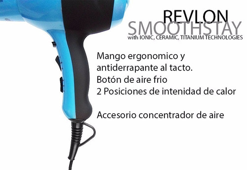 secador de pelo revlon smoothstay. nuevo !!!!!!!!!!!!!!!!!!!