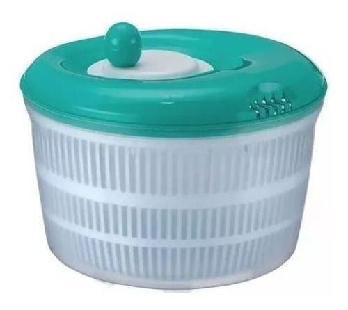 secador de saladas 4,5l verduras legumes centrífuga manual !