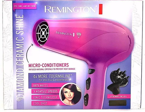 secador diamond ceramic shine de remington