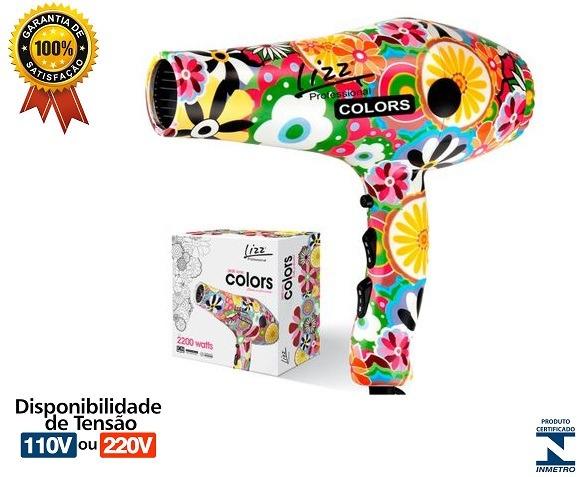 Secador Lizz Colors Tourmaline 3800 Ionic - R  228 84dc2b4e1d3e