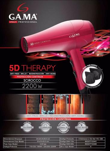 secador pelo gama scirocco 5d therapy tourmaline anti frizz