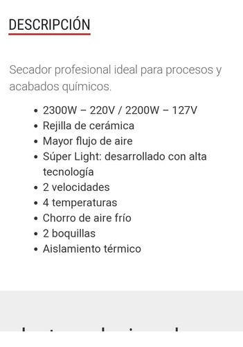 secador profesional