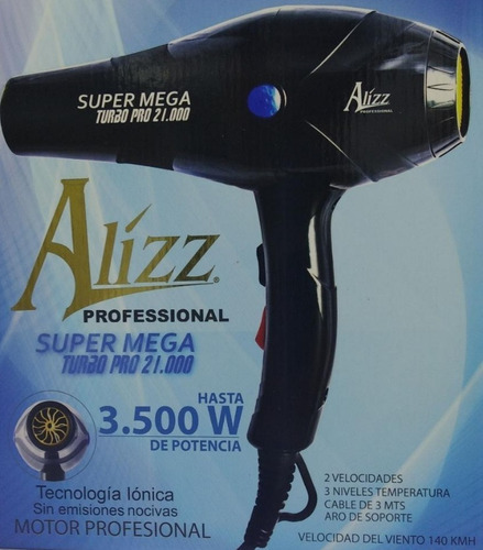 secador profesional alizz super mega turbo pro 21.000 3500 w