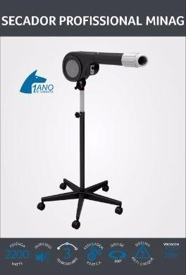 secador profissional  p/ cães c, pedestal 220v produto minag