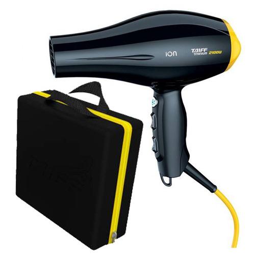 secador profissional taiff 2100w maleta 220v rosa ou amarelo