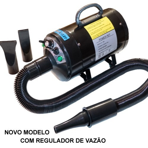 secador soprador - power pet lizze 2400w  regulador de vazao