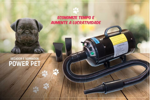 secador soprador power pet lizze profissional 2400w +3 bicos