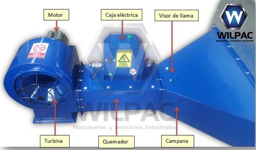 secadora cacao industrial wilpac rectangular a gas / diesel