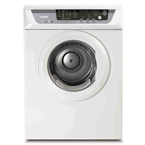 secadora carga frontal 8 kg blanca mabe - sem81bdby