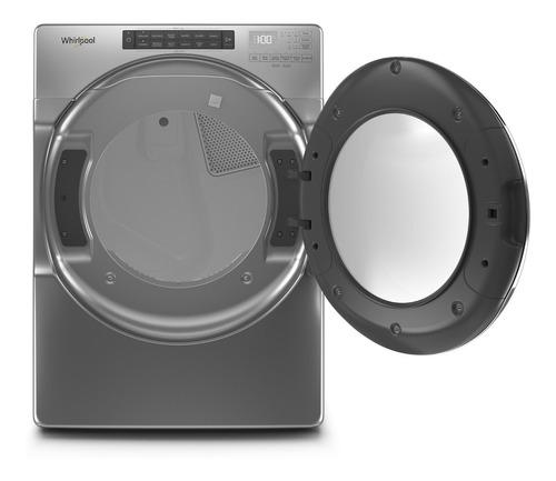 secadora carga frontal eléctrica 21kgs cromado whirlpool
