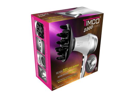 secadora ceramic c/boquilla + difusor timco sin-2000