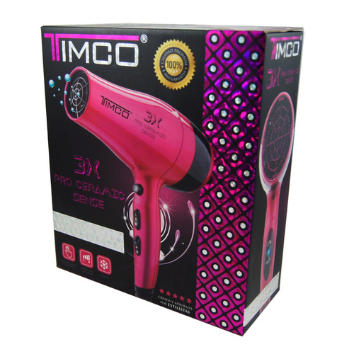 secadora de cabello pro ceramic sensor timco