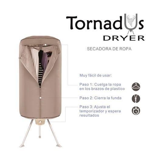 secadora de ropa electrica automatica portátil tornadus