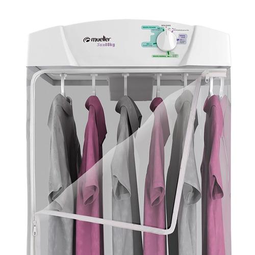 secadora de roupa de parede sun 6 cabides com zíper mueller