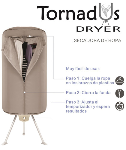 secadora ropa portatil electrica tornadus dryer hasta 10kg