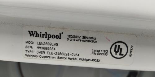secadora whirlpool modelo len2000lw0 en (200) verdes