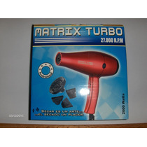 Secador Matrix Turbo Profesional 27000 Rpm 2000 Watts