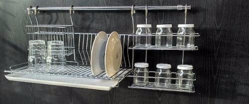 secaplato escurridor colgante colgar cap 12 platos cromado