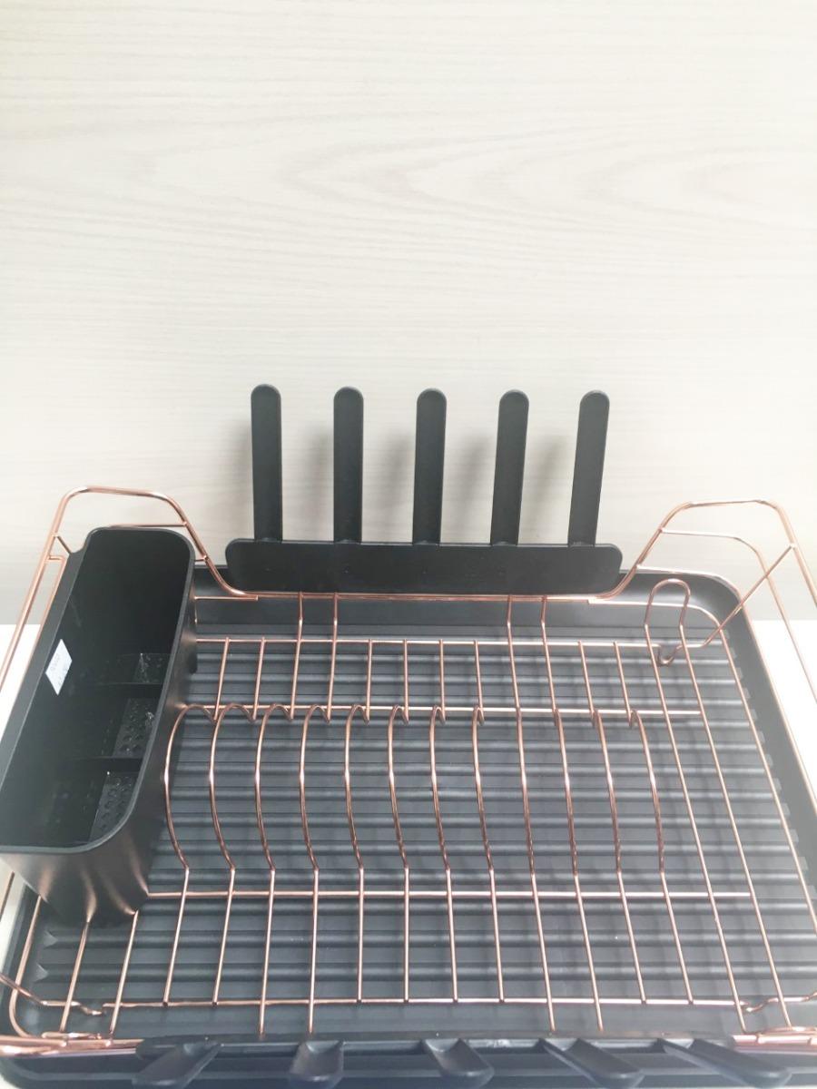 secaplatos escurridor grande con bandeja cobre negro (90403). Cargando zoom. 58321e4b582a