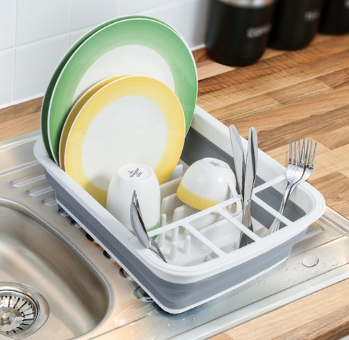 secaplatos escurridor silicona plegable platos vajilla