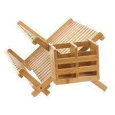 secaplatos madera maciza bambu rebatible bb&b usa