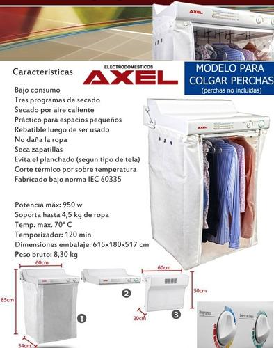 secarropas a calor tender pared axel ax3000 bajo consumo