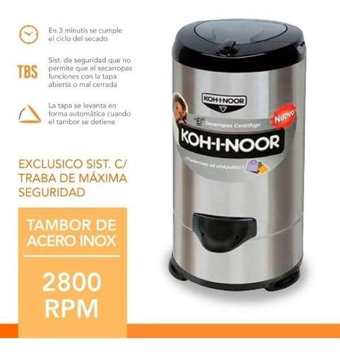 secarropas kohinoor linea acero inox 5.5 kg a655 2800 rpm