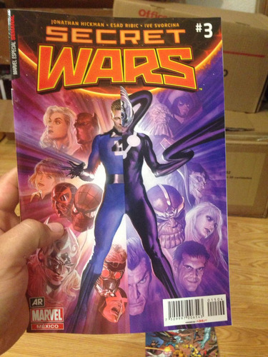 secret wars #3 portadas en español. juego de 3 portadas