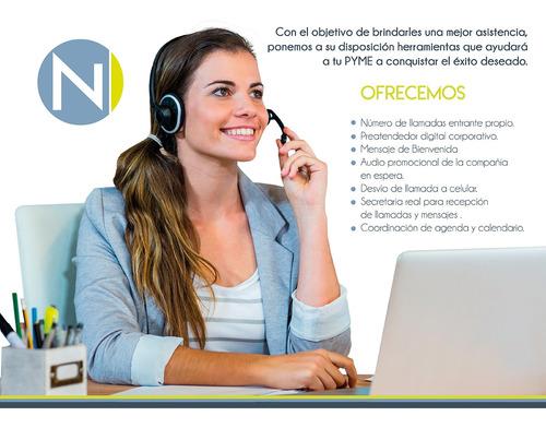 secretaria virtual recepcionista de llamadas numero entrante