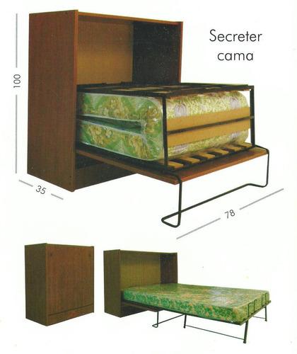 secreter cama 1 plaza reforzado funional  pintumm