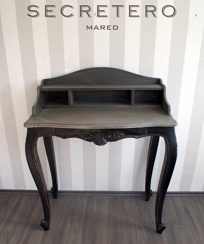 Secreter escritorio mueble vintage madera cedro fotos reales 6 en mercado libre - Mueble secreter ...