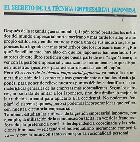 secreto técnica empresarial japonesa /  economía y empresa