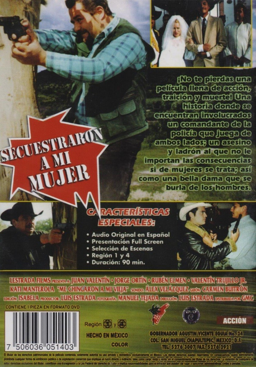 Secuestraron A Mi Mujer Juan Valentin Pelicula Dvd 189 00 En