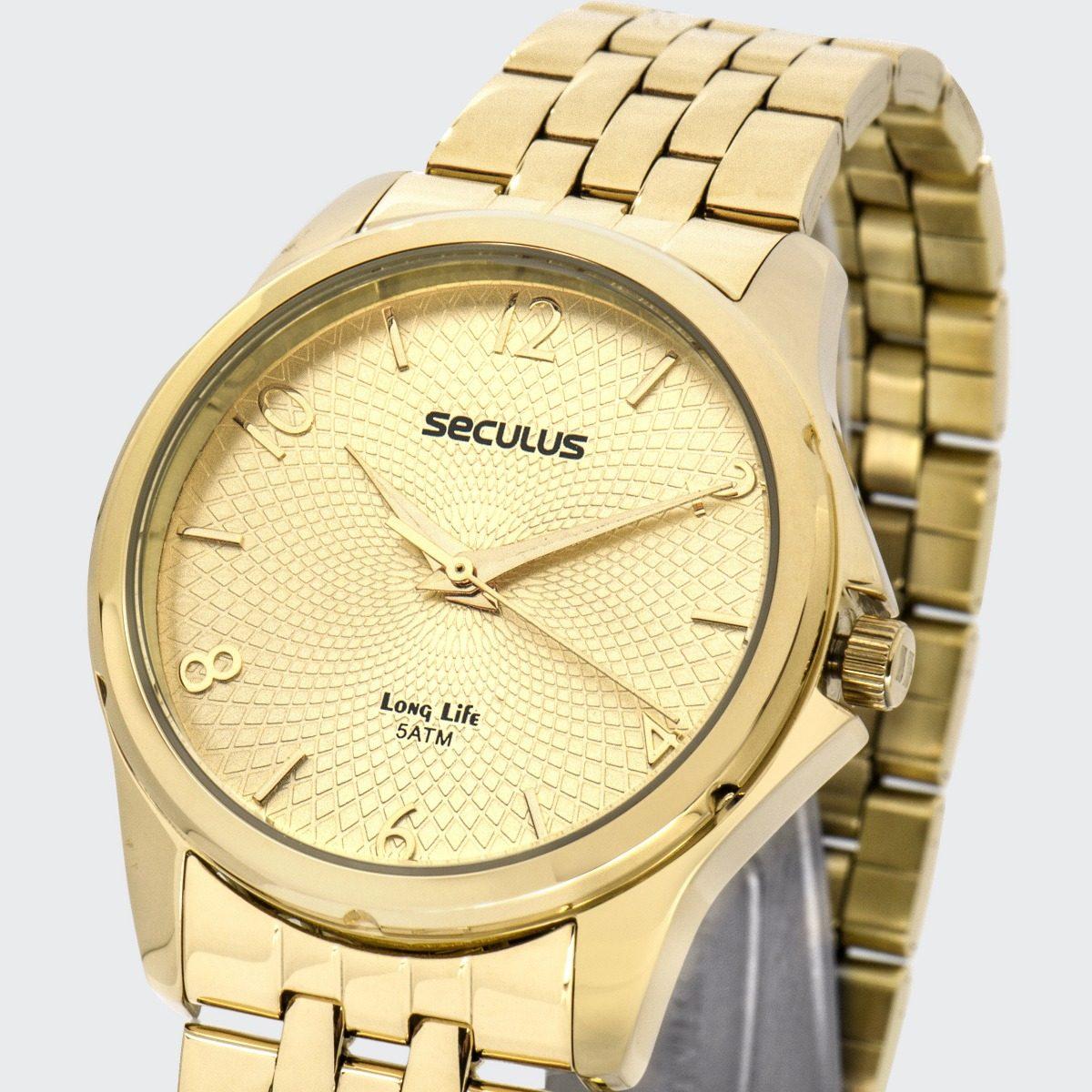 6154cf7c114 Relógio Seculus Feminino Long Life 20535lpsvda1 - R  155