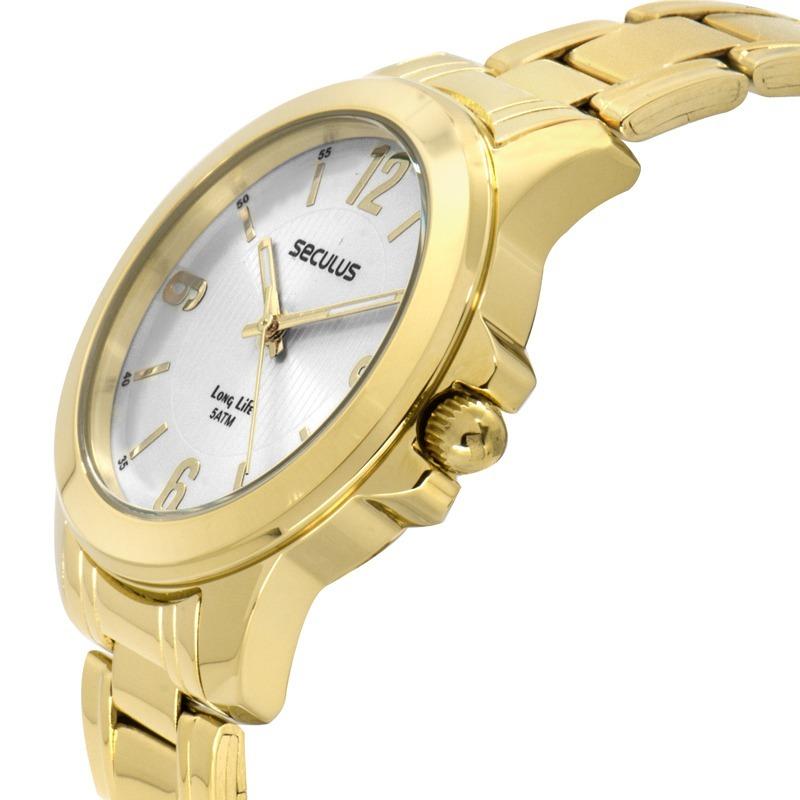 0f276aeddff Relógio Seculus Feminino Long Life 28789lpsvda1 - R  155