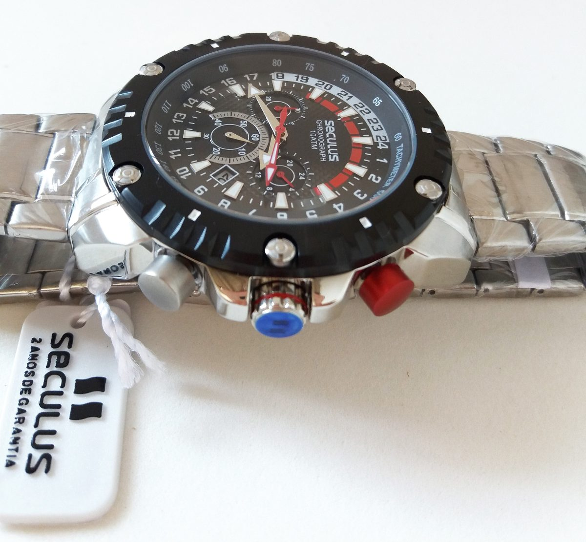 5880325bf75 Carregando zoom... relógio seculus barato cronometro analogico masculino