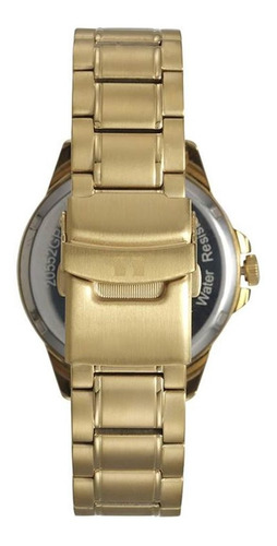 seculus relógio automático maquinismo aparente aço dourado