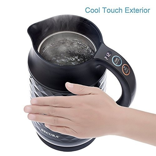 secura cool touch 1.8qt (7 copas) hervidor de agua eléctrico