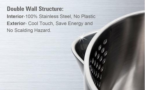 secura el hervidor de agua eléctrico de doble pared de ac