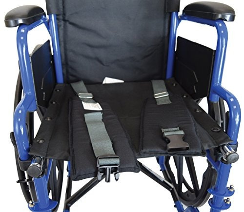 secure swsb1 acolchado silla de ruedas asiento cinturon hebi