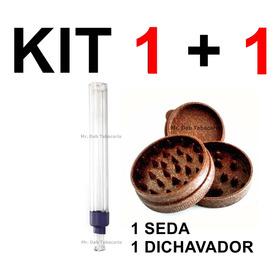 Seda De Vidro Piteira Reutilizavel Blunt Smok + Triturador