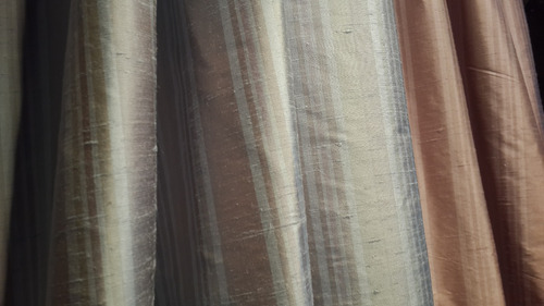seda natural para cortinas ancho 140 cms envíos silk stripes